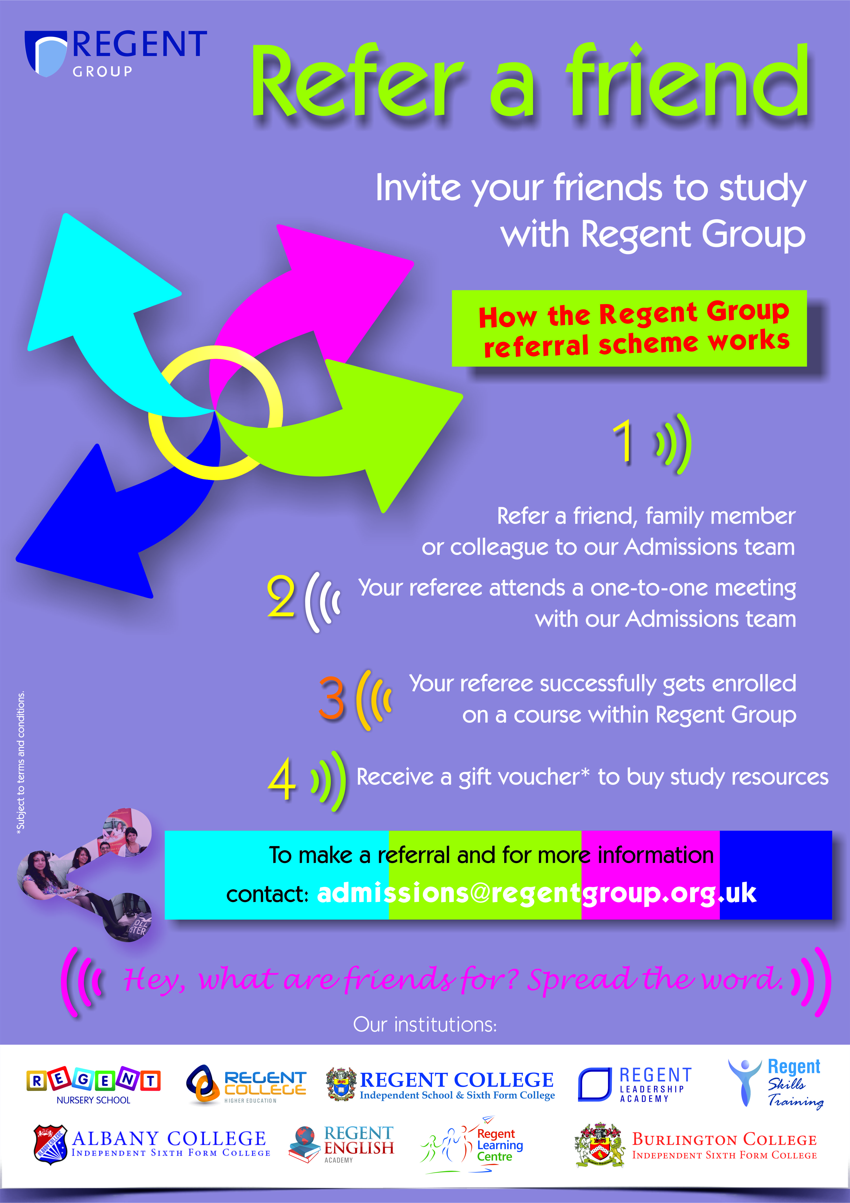 refer a friend poster